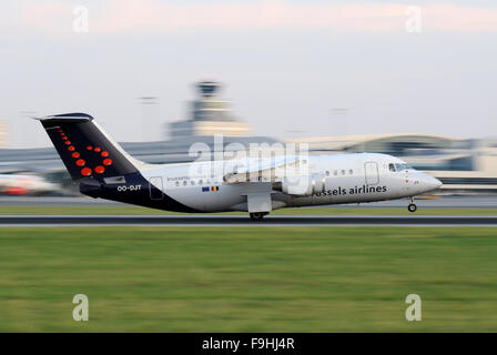 Brussels Airlines British Aerospace BAe - Stock Photo