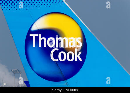 The Tail Plane Of A Thomas Cook Boeing 757 200 Stock Photo 24963133