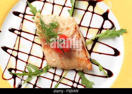 Salmon trout fillet - Stock Photo