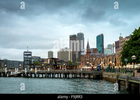 Sydney, Australia - November 7, 2015:  Campbells Cove Jetty. It is located at The Rocks in between Circular Quay - Stock Photo