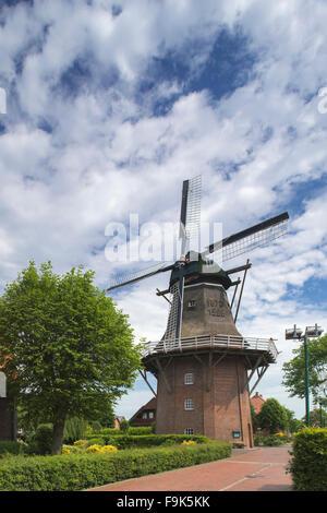 smock mill, scharrel, saterland, cloppenburg district, lower saxony, germany - Stock Photo