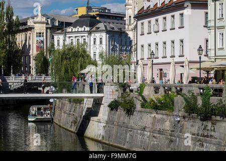 Ljubljana cityscape. European Green Capital 2016, Slovenia - Stock Photo