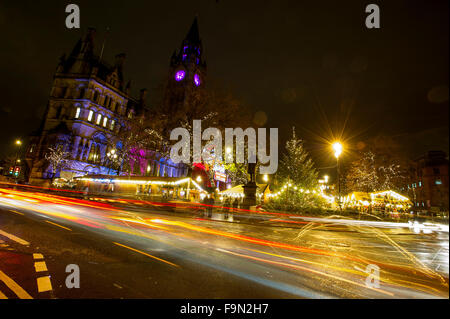 The annual German Christmas Market's in Manchester. Picture by Paul Heyes, Monday December 14, 2015. - Stock Photo