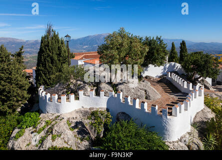 Site of a Moorish Castle on Comares Village,  739 metres above sea level, Malaga Province, Andalucia, Spain - Stock Photo