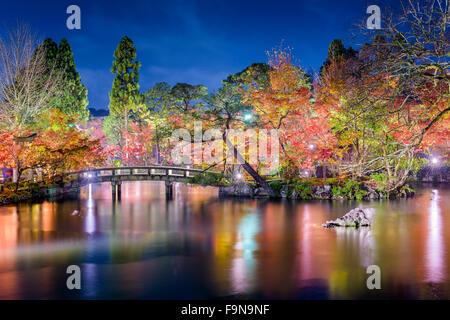 Kyoto, Japan at Eikando Garden at night in the autumn. - Stock Photo