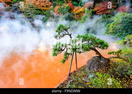 Beppu, Japan at the Blood 'Hell' Hot Spring. - Stock Photo