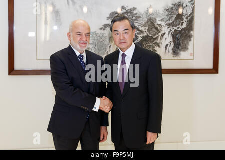 New York, USA. 17th December, 2015. Chinese Foreign Minister Wang Yi in New York, USAChinese Foreign Minister Wang - Stock Photo