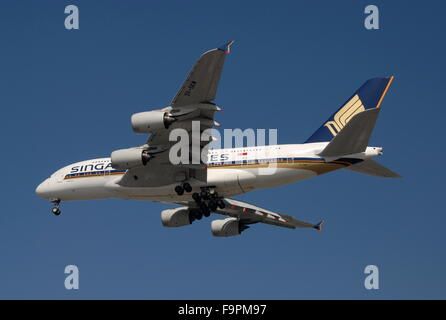 Singapore Airlines Airbus A380 - Stock Photo