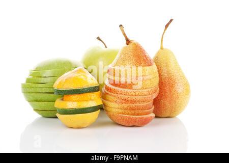 Fresh fruits isolated. - Stock Photo