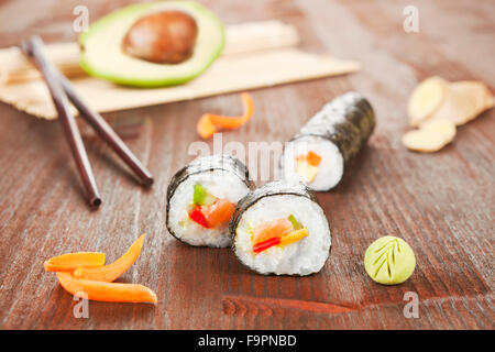 Delicious sushi roll. - Stock Photo