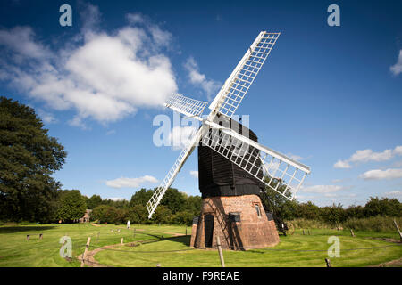 UK, England, Worcestershire, Bromsgrove, Avoncroft Museum, 19th Century Post Mill from Danzey Green near Tanworth - Stock Photo