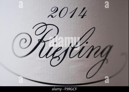 Dr L, Loosen Bros 2014 German Riesling wine label - Stock Photo