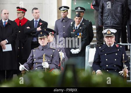 Prince Philip, Duke of Edinburgh, presides over the Armistice Day tribute at Menin Gate, Ypres - Stock Photo