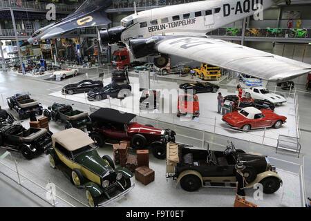 Berlin-Tempelhof. Exhibition 'Apollo and Beyond'. The  Speyer Technik Museum. - Stock Photo