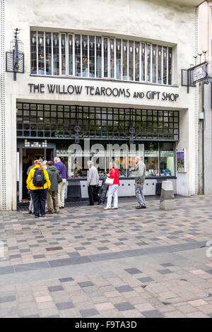 The Willow Tearooms and Gift shop on Sauchiehall Street, Glasgow, Scotland, UK - Stock Photo