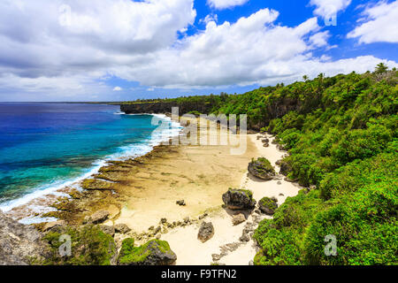 Nuku'alofa, Tonga. Rugged shores of Nuku'alofa, Tonga. - Stock Photo