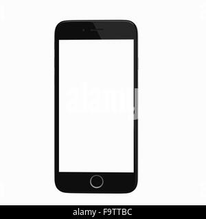 Hilvarenbeek, Netherlands  - December 18, 2015: Realistic render of a smart phone based on iPhone 6 reference images. - Stock Photo