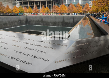 World Trade Center 9/11 Memorial, New York, USA - Stock Photo
