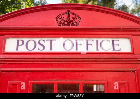 UK, England, Worcestershire, Bromsgrove, Avoncroft Museum, National Telephone Kiosk Collection, Post Office sign - Stock Photo
