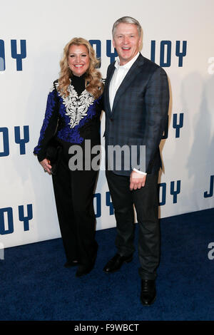HSN Chief Executive Officer & Director Mindy Grossman (L) and HSN President and Chief Marketing Officer Bill Brand. - Stock Photo