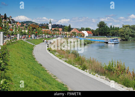The small town of Szentendre is situated on the banks of the Danube River, also known as the town of living art. - Stock Photo