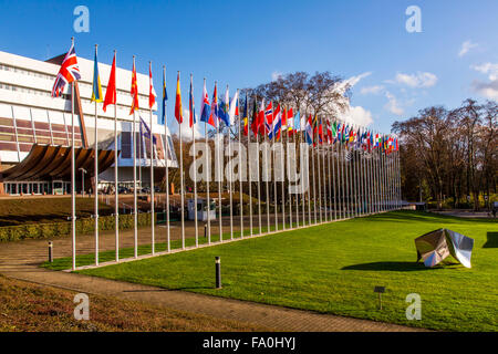 Building of the Council of Europe, Strasbourg, Alsace, France - Stock Photo