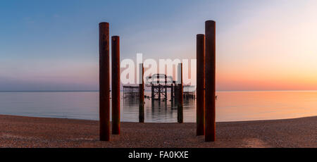 Panorama of West Hove, East Sussex - Stock Photo
