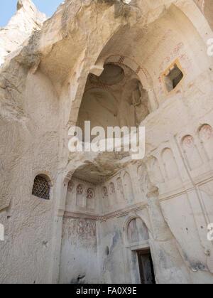 The Dark Church, Cappadocia Open Air Museum, Goreme, Cappadocia, Central Anatolia, Turkey. - Stock Photo