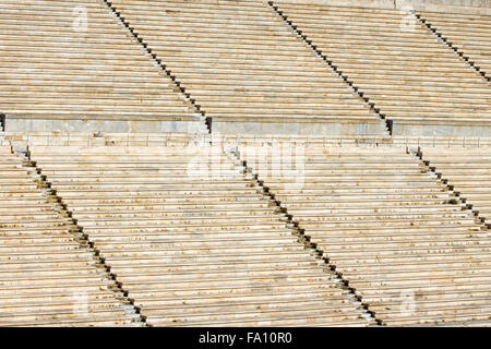 Detail of the old Panathenaic stadium at Arditos hill in Athens, Greece - Stock Photo