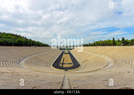 The old Panathenaic stadium at Arditos hill in Athens, Greece - Stock Photo