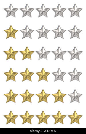 Star rating graphic element for valuation, review