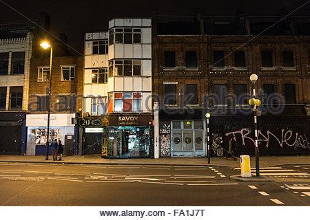 Shopfronts on Norton Folgate, Shoreditch High Street, London, UK - Stock Photo