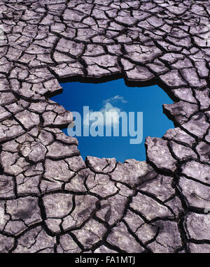 Optimism and blue sky thinking in spite of global warming - Stock Photo