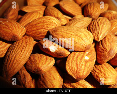 Delicious Healthy Almonds Nut - Stock Photo
