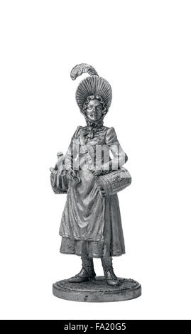 Tin Soldier French canteen-keeper - Stock Photo