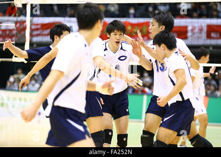 Tokyo, Japan. 18th Dec, 2015. Chuo University team group () Volleyball : 2015 Emperor's Cup and Empress's Cup All - Stock Photo