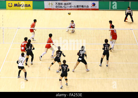 Tokyo, Japan. 18th Dec, 2015. General View Volleyball : 2015 Emperor's Cup and Empress's Cup All Japan Volleyball - Stock Photo
