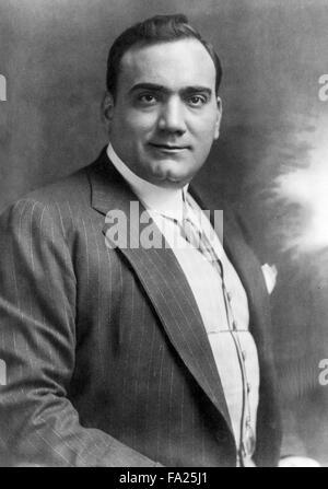 Enrico Caruso, Italian operatic tenor. - Stock Photo