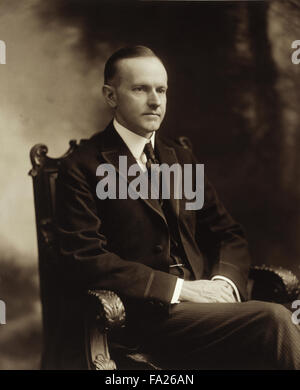 Calvin Coolidge, John Calvin Coolidge Jr. was the 30th President of the United States (1923–1929). - Stock Photo