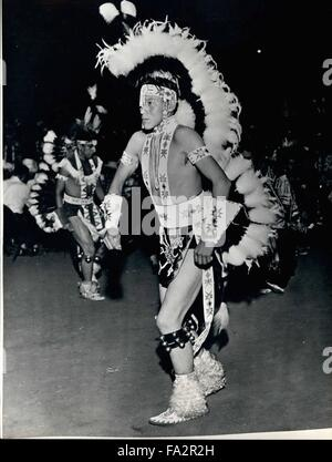 1968 - The World dances The Red Indian. Not so long ago the bright feathers, the wild whoops and the incessant tom - Stock Photo