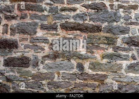 Two Hundred Year Old Stone Wall Horizontal - Stock Photo