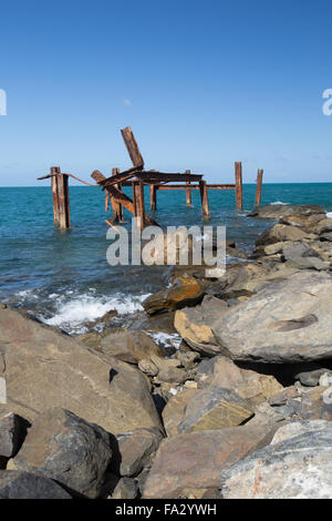 Old jetty at Archer Point, Qld. - Stock Photo