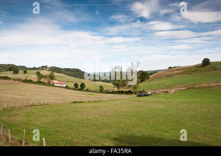 Meadows in Navarra countryside, Spain - Stock Photo
