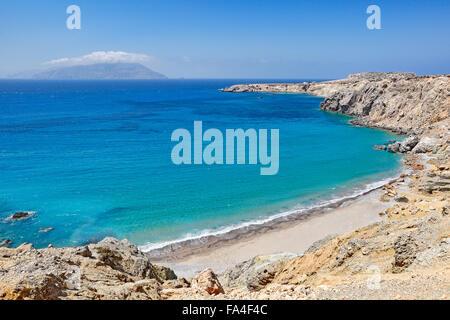 Araki beach in Karpathos, Greece - Stock Photo