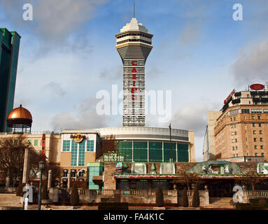Niagara Falls; Ontario; Canada; December, 20,2015. Fallsview Casino and Resort, Fallsview Boulevard - Stock Photo