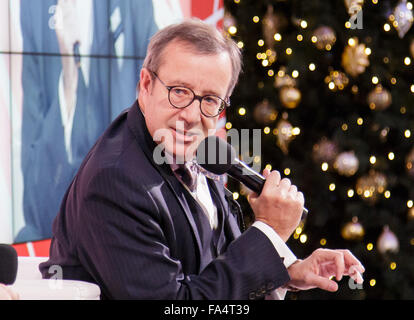 Warsaw, Poland. 21st December, 2015. President of Estonia Toomas Hendrik Ilves during the conference 'Sovereignty, - Stock Photo