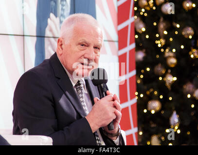 Warsaw, Poland. 21st December, 2015. Former President of the Czech Republic Vaclav Klaus during the conference 'Sovereignty, - Stock Photo