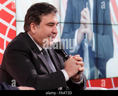 Warsaw, Poland. 21st December, 2015. Former President of Georgia Mikheil Saakashvili during the conference 'Sovereignty, - Stock Photo