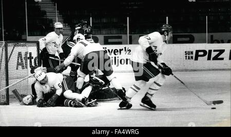 1970 - World Championship in Ice Hockey, Stockholm 1970, Finland-Poland result: 4-0 After the defeat against Soviet, - Stock Photo