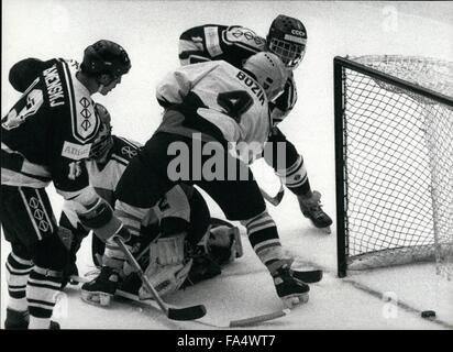 1970 - Ice-Hockey World Championships in Switzerland: The Icehockey-worldchampionships took place in Bern/Switzerland - Stock Photo